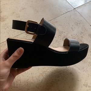 A New Day Black Heels Size 7 Barely Used